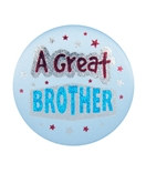 A Great Brother Satin Button