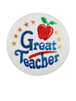 Great Teacher Satin Button