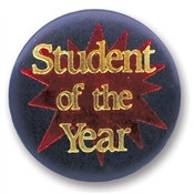Student of the Year Satin Button