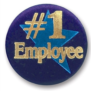 #1 Employee Satin Button