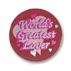 World's Greatest Lover Satin Button