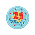 21 and Terrific Satin Button