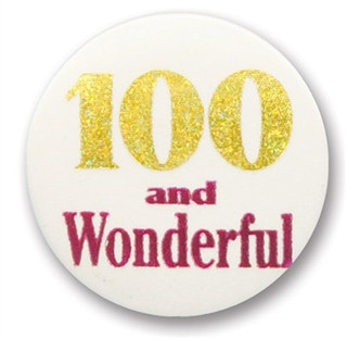 100 and Wonderful Satin Button