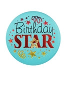 Birthday Star Satin Button
