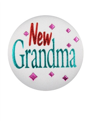 New Grandma Satin Button