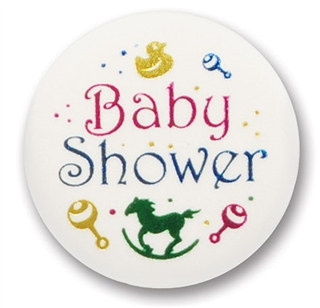 Baby Shower Satin Button