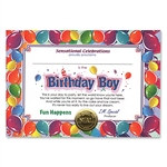 Birthday Boy Award Certificates (6 Certificates/Pkg)