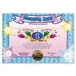 One Year Old Boy Award Certificates