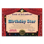 Birthday Star Award Certificates