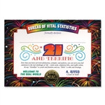 21 And Terrific Award Certificates (6 Certificates/Pkg)