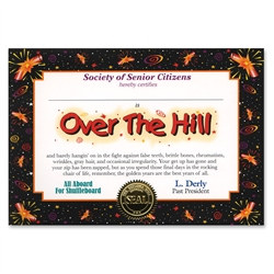 Over The Hill Award Certificates (6 Certificates/Pkg)