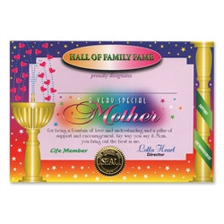 Very Special Mother Award Certificates