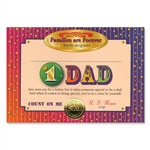 #1 Dad Certificate Award Certificates