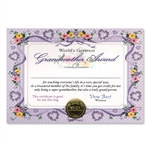 World's Greatest Grandmother Award Certificates (6 Certificates/Pkg)