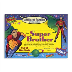 Super Brother Award Certificates
