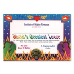 World's Greatest Lover Award Certificates