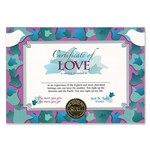 Certificate Of Love Award Certificates