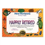 Happily Retired Award Certificates (6 Certificates/Pkg)