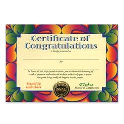 Certificate Of Congratulations Award Certificates