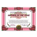 Mother Of The Year Award Certificates (6 Certificates/Pkg)