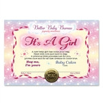 It's A Girl Award Certificates