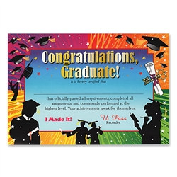 Congratulations Graduate Award Certificates