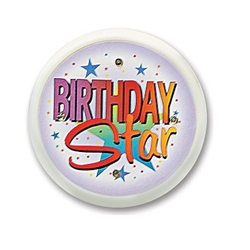 Birthday Star Flashing Button