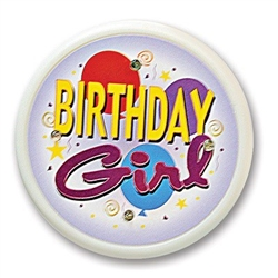Birthday Girl Flashing Button
