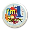 I'm 1 Year Old Today Flashing Button