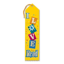 I Love To Read Jeweled Ribbon