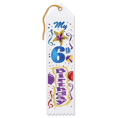 My 6th Birthday Jeweled Ribbon