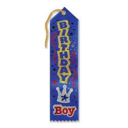 Blue Birthday Boy Jeweled Ribbon