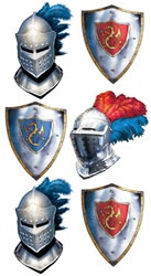 Valiant Knight Heraldry Tattoos (1 sheet/pkg)