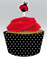 Ladybug Cupcake Wrapper and Picks (12/pkg)