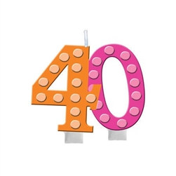 Bright and Bold 40 Candle