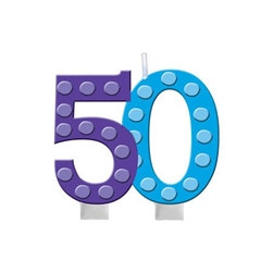 Bright and Bold 50 Candle