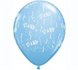 It's A Boy Confetti Latex Balloon