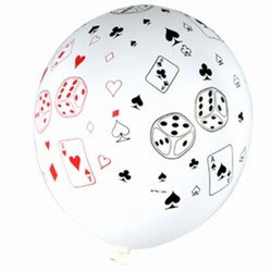 Casino Latex Balloon