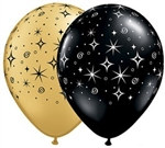 Assorted Sparkling Star Latex Balloons