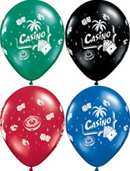 Assorted Vegas Casino Latex Balloon
