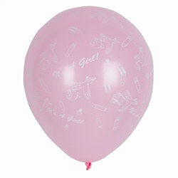 It's A Girl Latex Balloons (12/pkg)