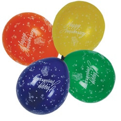 Happy Anniversary Latex Balloons (12/pkg)