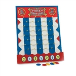 The Wooden Disk Drop Game is perfect for your next carnival or circus themed party or event. This classic game is played by dropping a disk down the pegged front of the game board. Disk will fall into one of seven numbered spots. Simple Assembly.