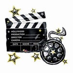 Hollywood Clapboard Mylar Balloon