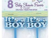It's A Boy Cake Pick (8/pkg)