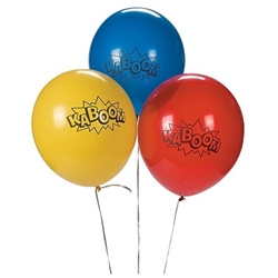 Superhero parties are always in style, and the little crime fighters in attendance will love these colorful, printed balloons!