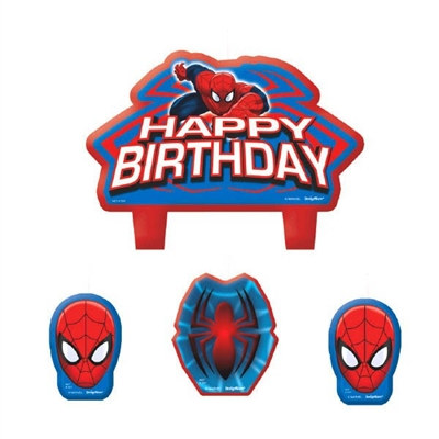 Spider-Man Candle Set (4/pkg)