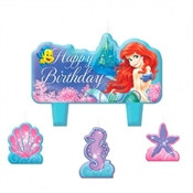 Little Mermaid Candle Set (4/pkg)