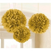 Gold Fluffy Tissue Decoration