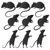 Glittered Mice Silhouette